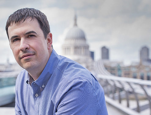 Business man's portrait with St Paul's in background by corporate photographers London