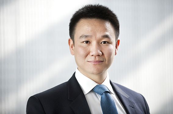 LinkedIn profile photography with corporate office background