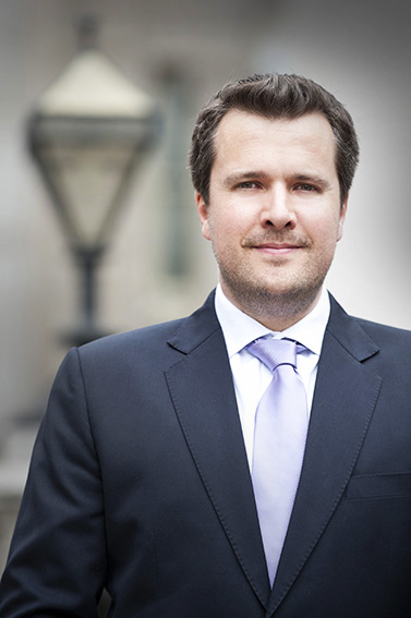 corporate photography of financial director in historic London street