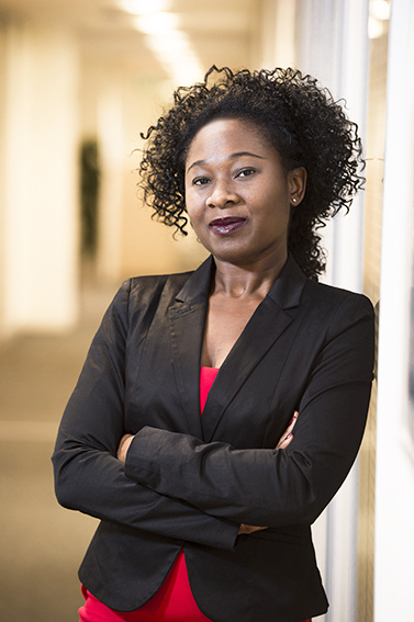 Sales director portrait at her offices in East London