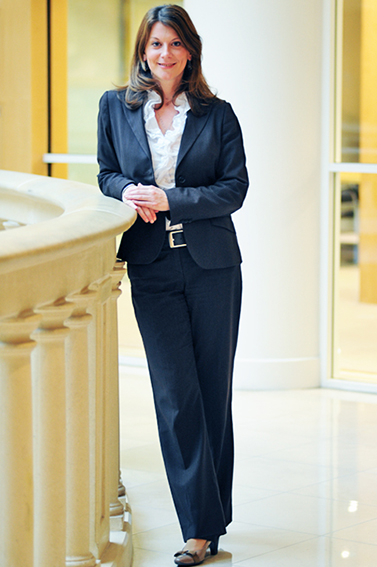 business woman full length portrait for a corporate article in London magazine