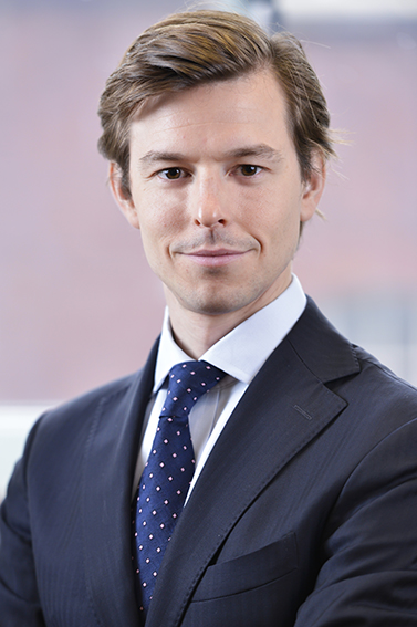 corporate headshot in London offices of businessman for LinkedIn profile page