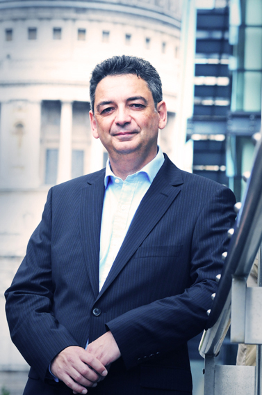 Corporate portrait photography for City consultant near St Paul's in London