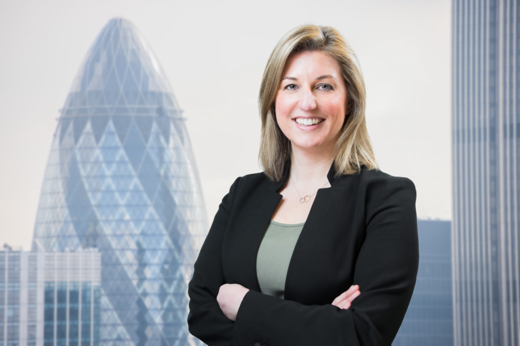 Corporate headshot with London The Gherkin Cityscapes