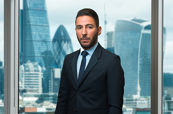 Corporate London photography with City skyline view