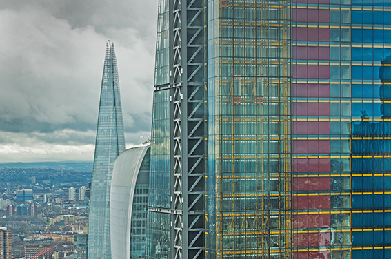 Corporate London photography Heron Tower skyline view