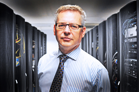 Sample of an executive headshot taken in a data centre in north London