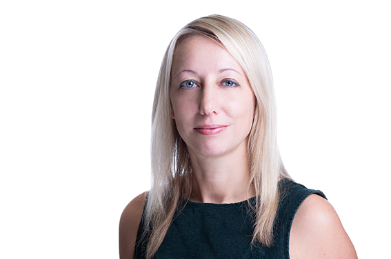 Sample of an executive headshot in London on white background