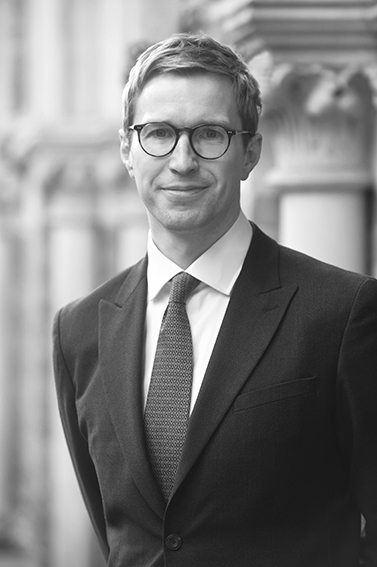 Sample of an executive headshot taken in London street in black and white