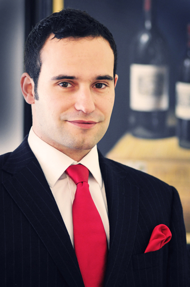 Sample of an executive headshot taken at a wine importers office in London